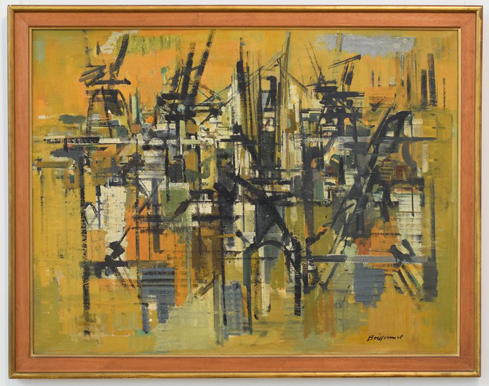 Port n°1 - 1961, huile sur toile