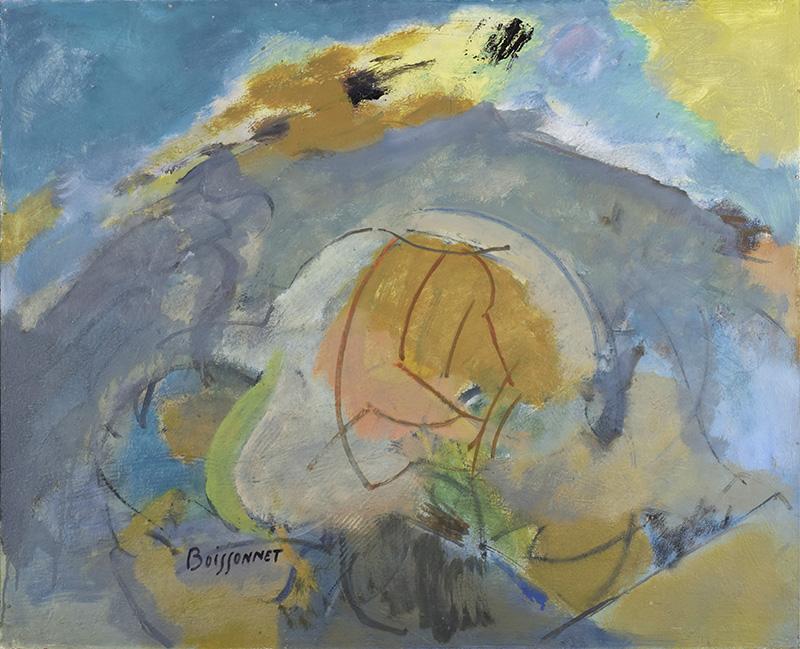 Edmond Boissonnet - Paysage - 1989, huile sur toile