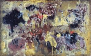 Anne Bournas - Pourpre - 2014 - 73,5 X 116,5 cm - huile, sable, pigments sur toile