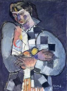 Philippe Conord - Portrait de femme - huile sur toile - 1957