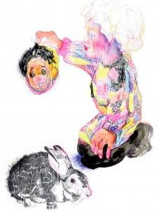 Florence Reymond - N°12, Série - 2011 - techniques mixtes sur papier - 49 X 70 cm © Galerie Odile Ouizeman