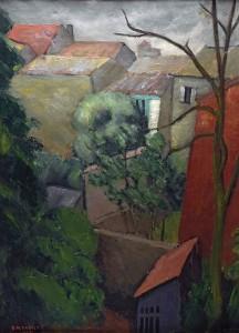 René TASTET - Le printemps vu depuis la fenêtre - 1935 - 70 X 51,5 cm