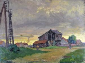 René TASTET - Les bords de la Garonne sur le bas de Lormont - 1926 - 49 X 66,5cm