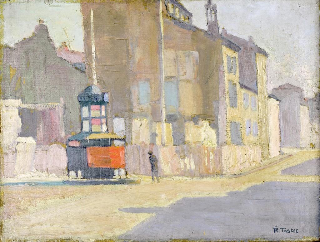 René TASTET - Pissotière à l'angle de la rue Mouneyra et de l'avenue de la Libération à Bordeaux - 1928 - 46 X 61 cm