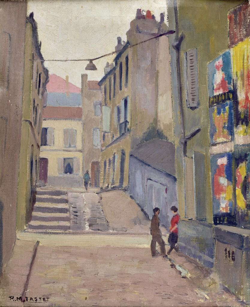 René TASTET - Rue Ducru - 1930 - 60 X 49 cm