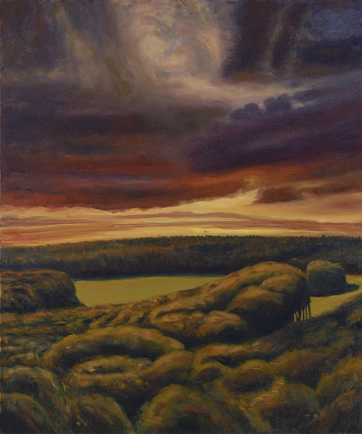 Claude Roucard - La clairière Peret Bel Air, l'automne - Huile sur toile - 110 X 92 cm - photographie Jean-Louis Losi