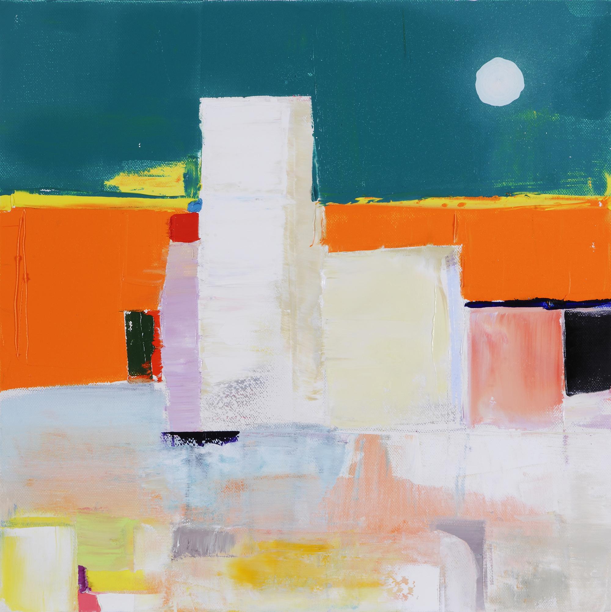 Jean-Jacques ROSSBACH - Seaside - Huile sur toile - 40 X 40 cm - 2017