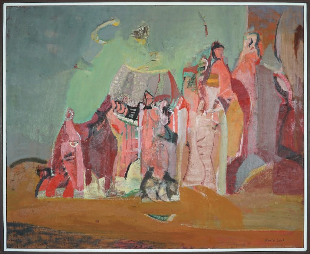 """Herta LEBK - """"Rochers rouges de Sédona"""" - Huile sur toile - 81x100 - 2001"""