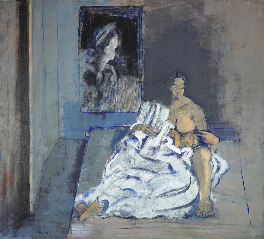 """Claude BELLAN - """"Le repos du guerrier"""" - 112x124 - 1986"""