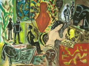 """Serge PLAGNOL - """"Carnet de Sainte Anastasie"""" - Gouache sur papier - 21 X 29 cm - 2020"""