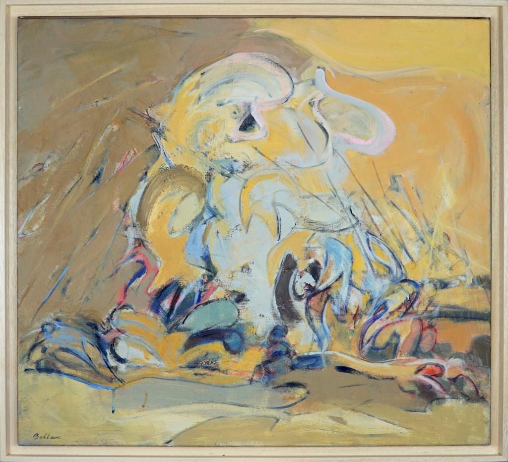 """Claude BELLAN - """"Bataille I"""" - 73 x 81 cm - 1994 - huile sur toile - VENDUE"""