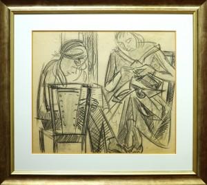 """Claude BELLAN - """"La Couture"""" - 36 X 42 cm - mine de plombe sur papier - 800€"""