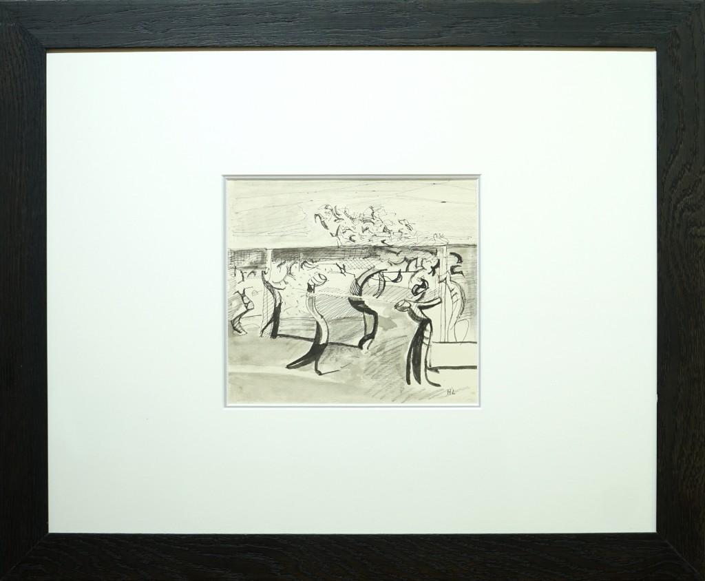 """Herta LEBK - """"Vignes"""" - 18 X 20 cm - encre sur papier - 600€"""