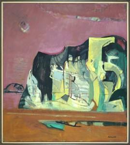 "Herta LEBK - ""Rocher"" - 100 x 89 cm - 1999 - huile sur toile- 2600€"