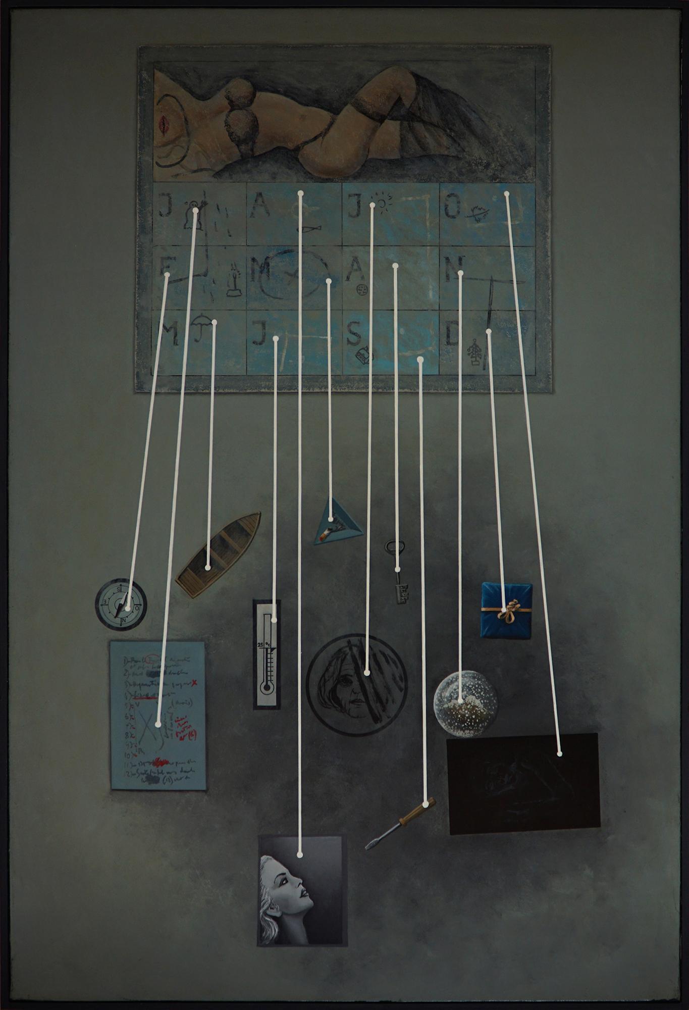 Claude BELLAN - Tauromachie rose II - 100 x 100 cm - 2000 - huile sur toile - 2800€
