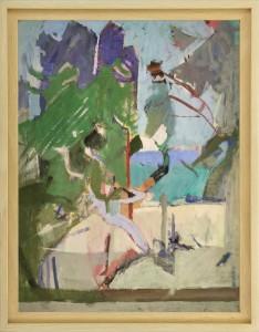 Herta LEBK – Équilibre - tempera sur papier - 58 X 45,5 cm FORMAT CADRE 66 X 52