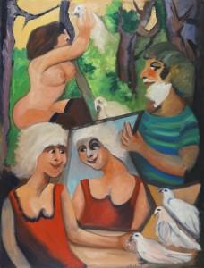 Pierre ASSEMAT – Écologie – huile sur toile – 92 x 73 cm – 2002